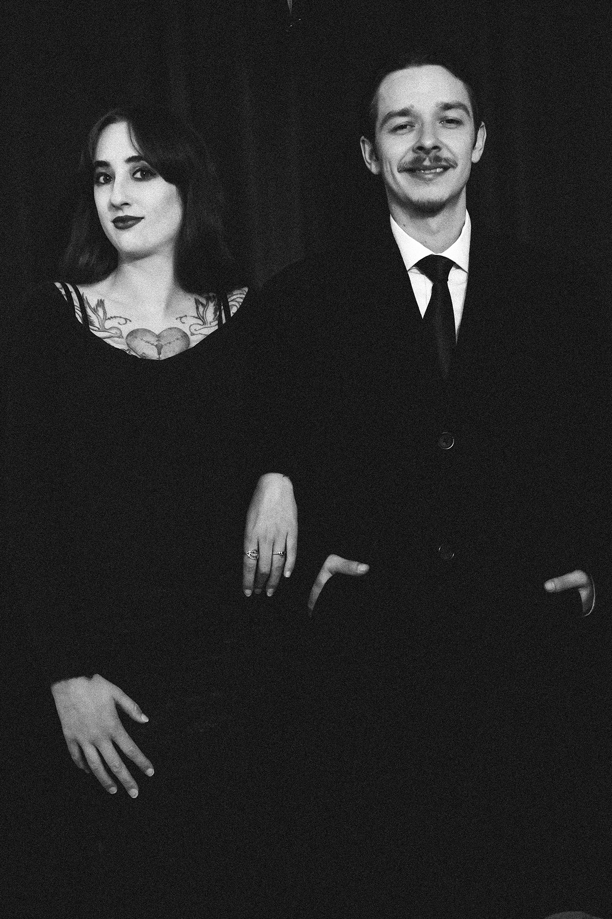 Addams Family Styled Couples Photoshoot